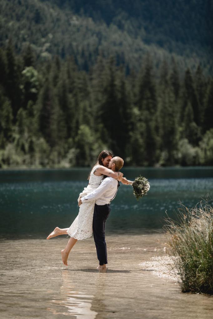 Hochzeitsfotos am Hintersee Nationalpark Berchtesgaden