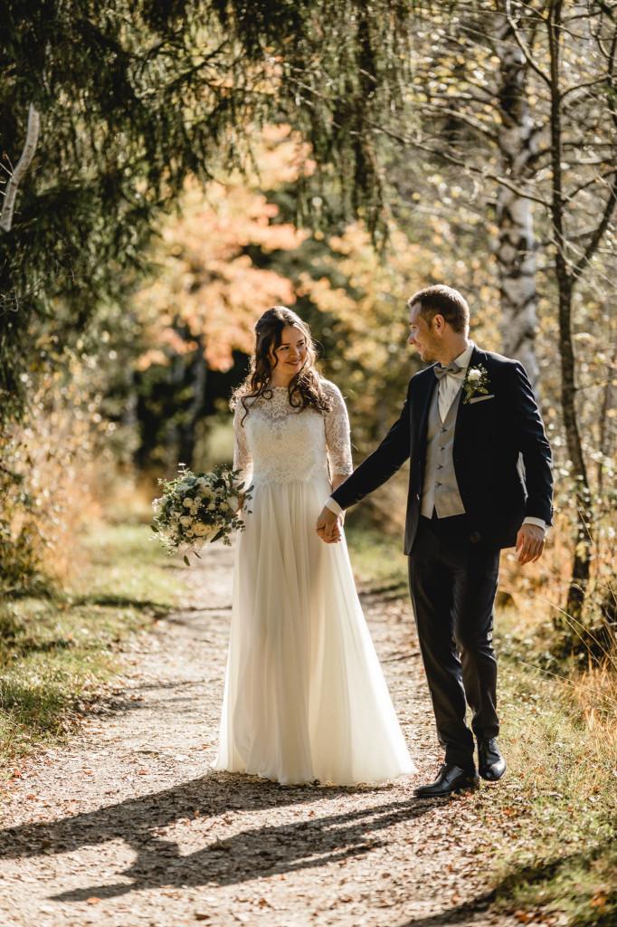 Hochzeit in Herbst