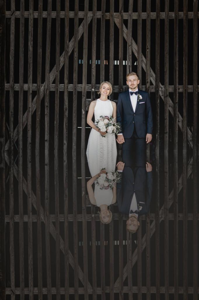 ausgefallenes Hochzeitsfoto